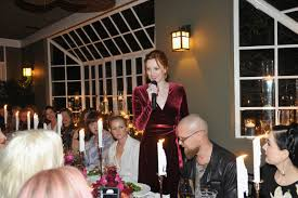 a jo malone dinner party to welcome karen elson his and hers