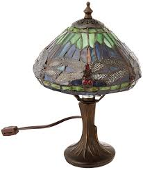 dale tiffany 7601 521 dragonfly table lamp antique brass and art