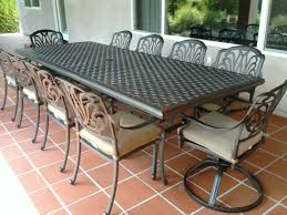 Aluminum Cast Patio Dining Sets - elisabeth cast aluminum 11pc outdoor patio dining set with 46