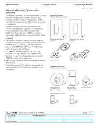maestro wireless dimmers and switches