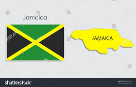 Jamaican Flag Day Map National Flag Jamaica Stock Vector 686297860 Shutterstock