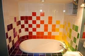 ideas for bathrooms home interior and exterior design rainbow tiles paint ideas bathrooms