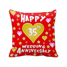 35th wedding anniversary gifts 35th wedding anniversary gift printed cushion with filler