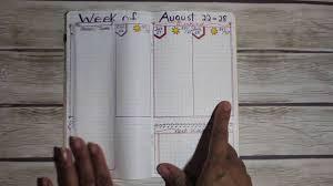 bullet journal hacks vertical weekly layout youtube
