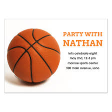 basketball cards u0026 invitations pingg com