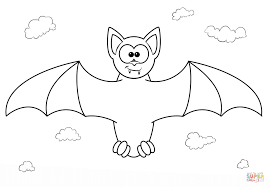 cartoon vampire bat coloring page free printable coloring pages
