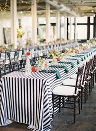 black white striped table runner how to make your own wedding linens wedding linens chair ties and