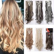 24 In Human Hair Extensions by Amazon Com Prettyshop Xxl Set 8 Pcs 24