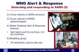 1 who communicable diseases surveillance response sars