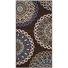 Rug Trim Chocolate Brown And Blue Area Rug Roselawnlutheran
