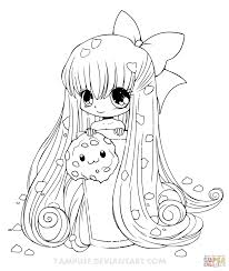girls coloring pages chibi cupcake coloring page free