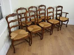 Antique Oak Ladder Back Chairs 8 French Oak Ladder Back Dining Chairs C 1910 Antiques Atlas