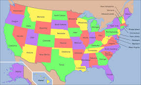 Usa Map With Names by Map Of Usa States With Names And Capitals Map Of Usa States With