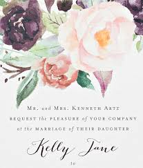 new york city inspired floral watercolor wedding invitations oh