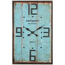 amazon com uttermost 06425 6425 antiquite distressed wall clock