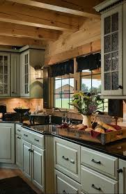 Best  Log Cabin Kitchens Ideas On Pinterest Log Cabin Siding - Cabin kitchen cabinets