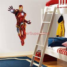 28 iron man home decor iron man marvel avengers comic book iron man 3 avengers decal removable wall sticker home