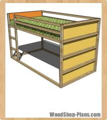 fort loft bed woodworking plans woodshop plans