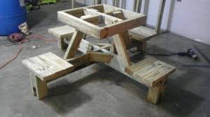 Picnic Table Plans Free Free Plans For Wood Picnic Table New Woodworking Style