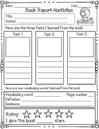 country report template middle school book report nonfiction book report templates vocabulary words