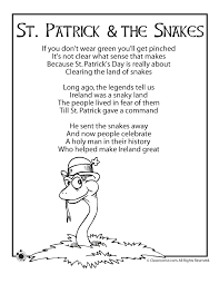 st patrick u0027s day kids poems woo jr kids activities