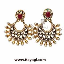 earring online buy golden artificial pearl earring online hayagi