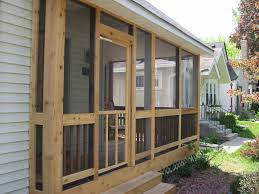 screened in front porch plans good screened in front porch