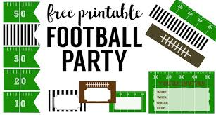 football party decorations free printable football decorations football party paper trail