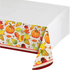 Patio Party Vinyl Tablecloth by Fall Harvest Plastic Tablecloth Walmart Com