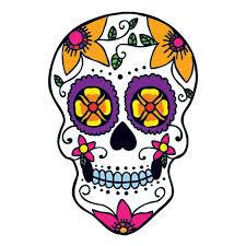 flower power sugar skull temporary taintedtats