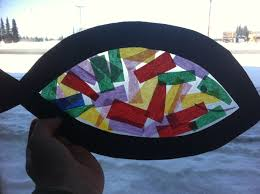 stained glass u201d fish craft for kids pinterest inspiration