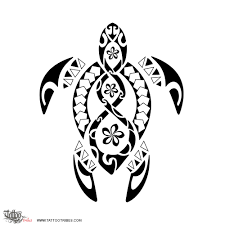 polynesia clipart honu turtle pencil and in color polynesia
