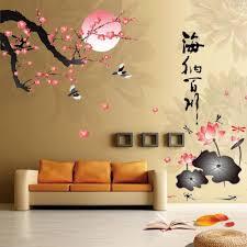 aliexpress com buy 3d plum flowers 3d wall stickers decals art