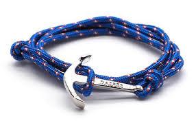 rope bracelet with anchor images Bracelets wristbands rope cord men 39 s dapper vigilante jpg