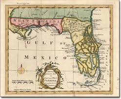 historic maps of florida apalachee river on a map of west florida historic cartography