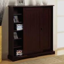 Sliding Door Storage Cabinet by Media Storage Cabinet With Sliding Door Multimedia Stand Tower Cd