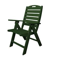 Polywood Outdoor Furniture Reviews by Polywood Nautical White Highback Patio Chair Nch38wh The Home Depot