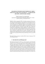 building information modeling bim for facilities management