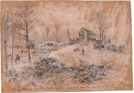 steam mill near the battlefield used as a medical depot 1863 may