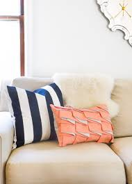diy structured pleat lumbar pillow sugar u0026 cloth diy home decor