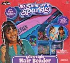 hair beader cra z shimmer n sparkle hair beader toys