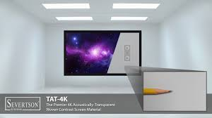 home theater screen fabric severtson tat 4k u0026 sat 4k featured at cedia expo 2015