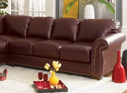 classic sectional sofa cassidy l190 burgundy
