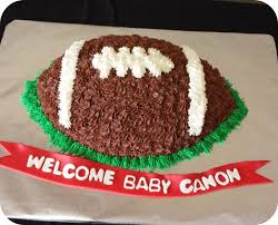 football baby shower baby shower cakes and cupcakes