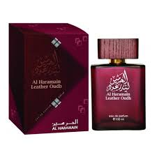 Minyak Oud haramain leather oudh eau de parfum 100ml spray