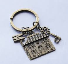 housewarming gift new house keychain first house keyring