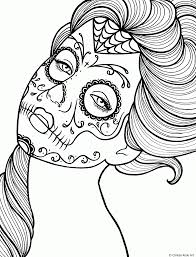 day of the dead printable coloring pages coloring home