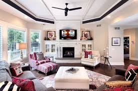 Fireplace Side Cabinets by Stack Stone Fireplace Living Room Transitional With Built In White