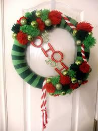 christmas yarn wreath happy holiday s wreath s 1
