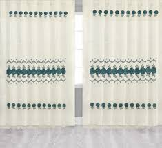turquoise sheer panel window treatment curtains